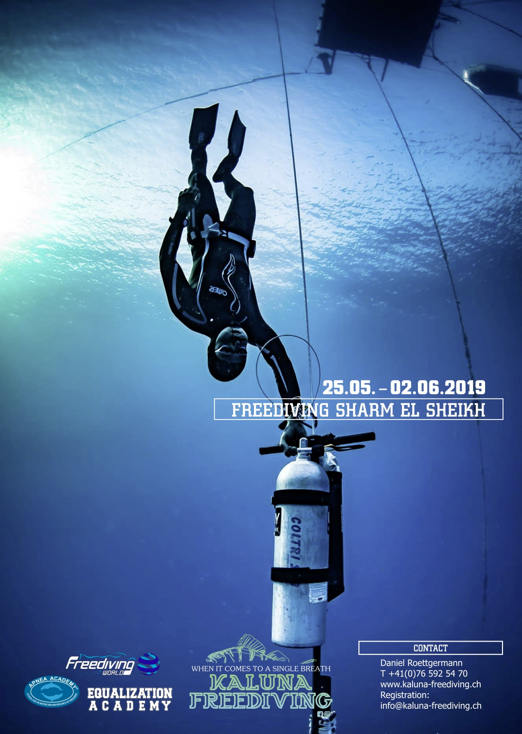 Freediving Training in Sharm el Sheikh mit Andrea Zuccari – May 2019